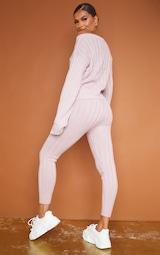 Rose Bardot Sweater And Legging Lounge Set 2
