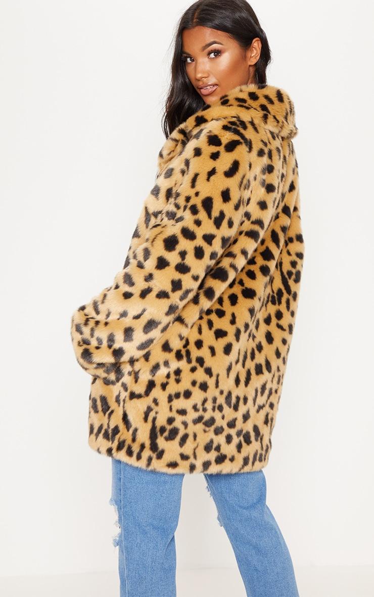 Leopard Faux Fur Coat  2