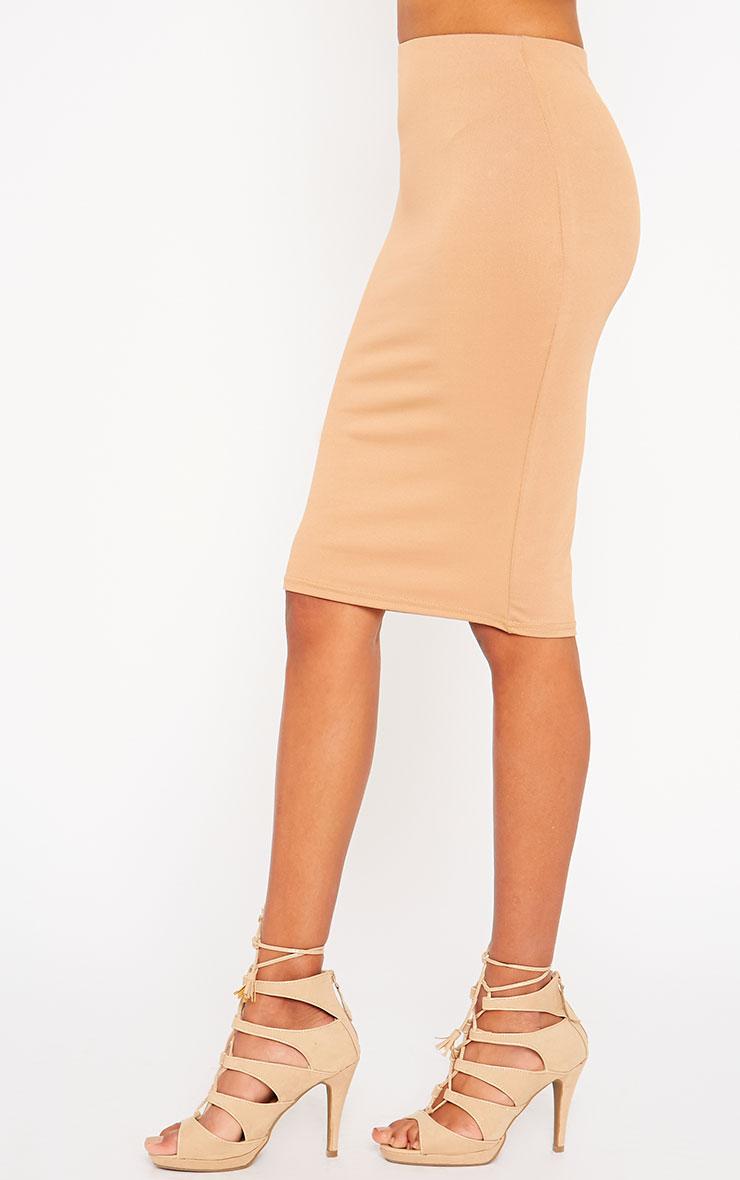 Klarisa Camel Midi Skirt 3