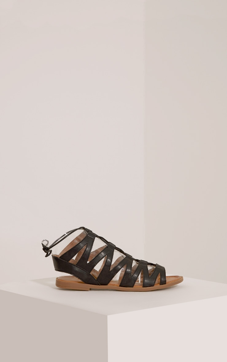 Brielle Black Cut Out Gladiator Sandals 5