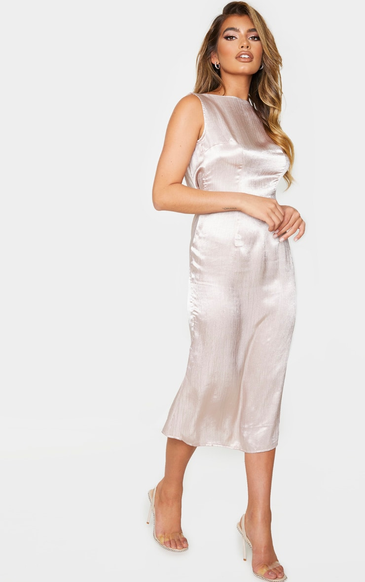 Nude Cowl Back Midi Slip Dress 3