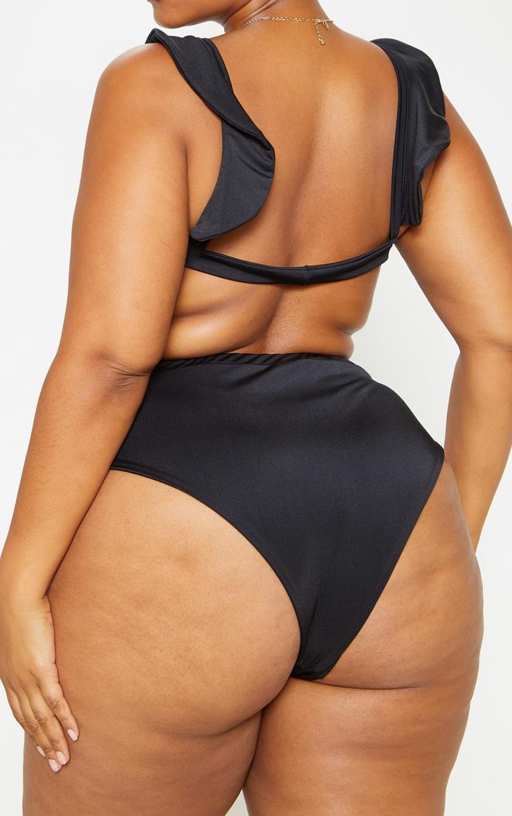 Plus Black High Waist Bikini Bottoms  5