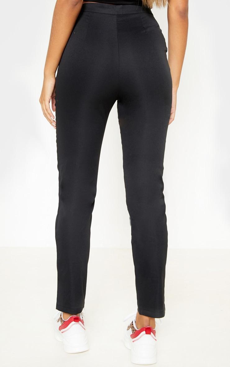 Black Button Detail Trouser 4
