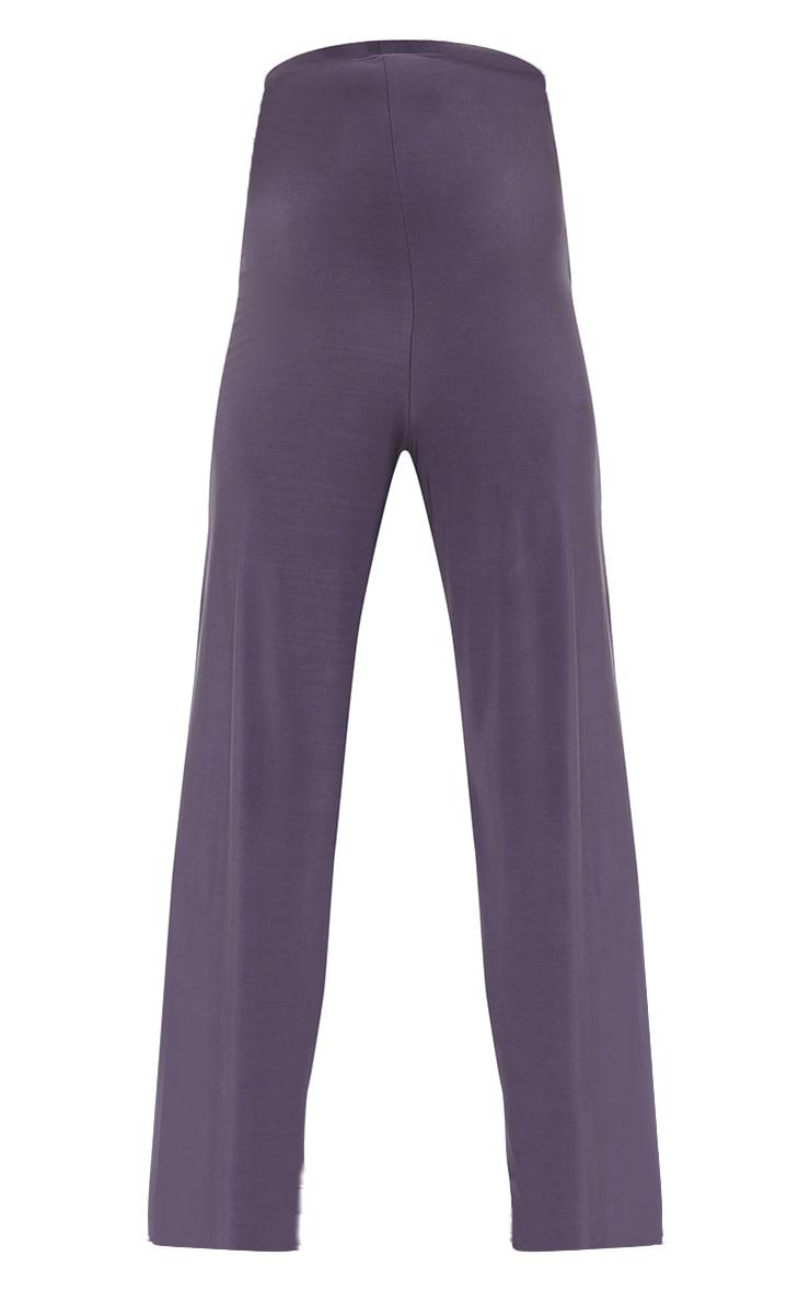 Maternity Slate Grey Slinky Wide Leg Pants 5