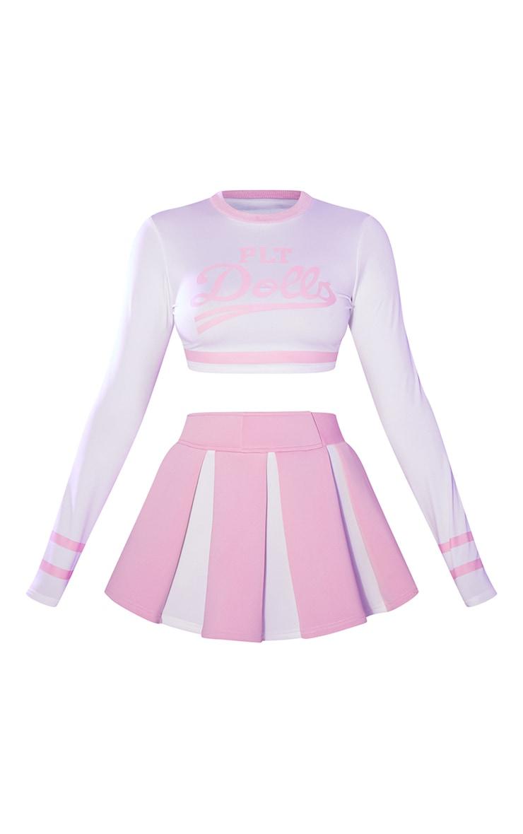 PRETTYLITTLETHING Pink Sexy Cheerleader Costume 5