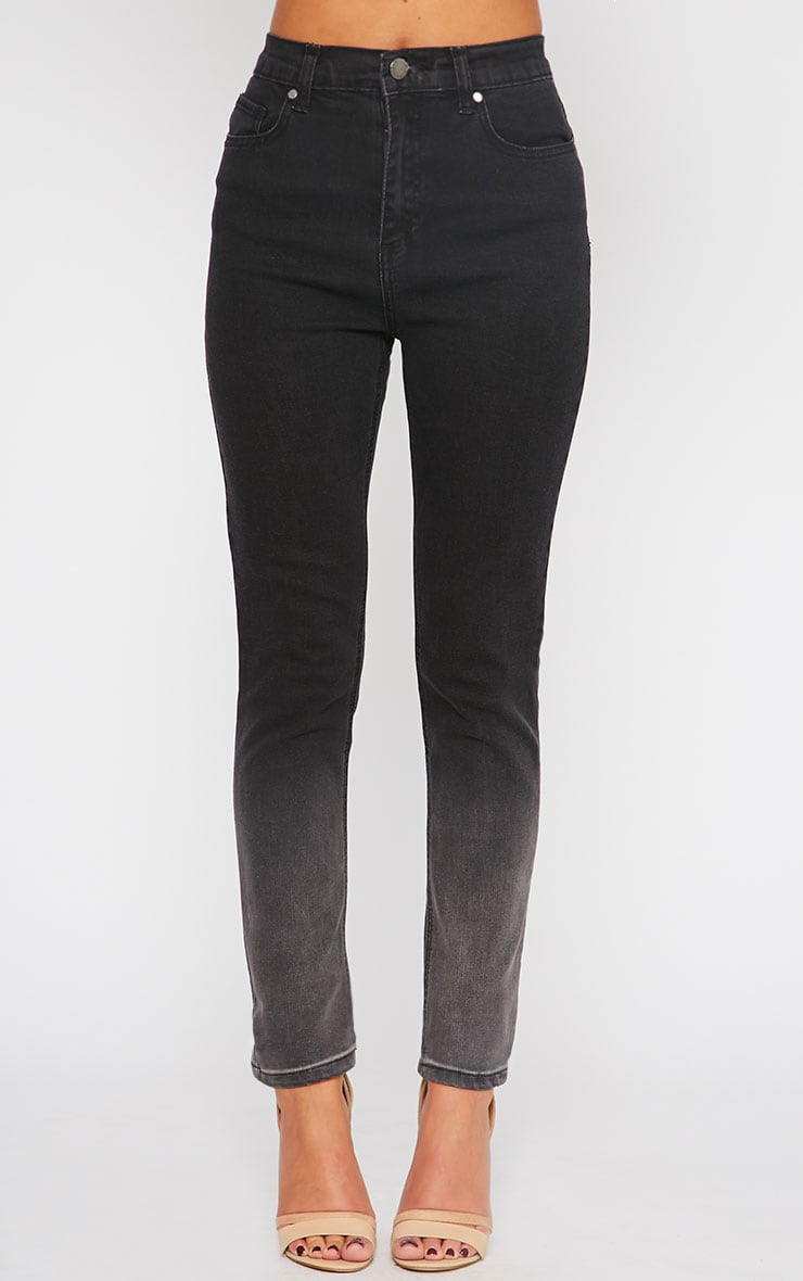 Bonnie Charcoal Mid Rise Ombre Skinny Jean 2
