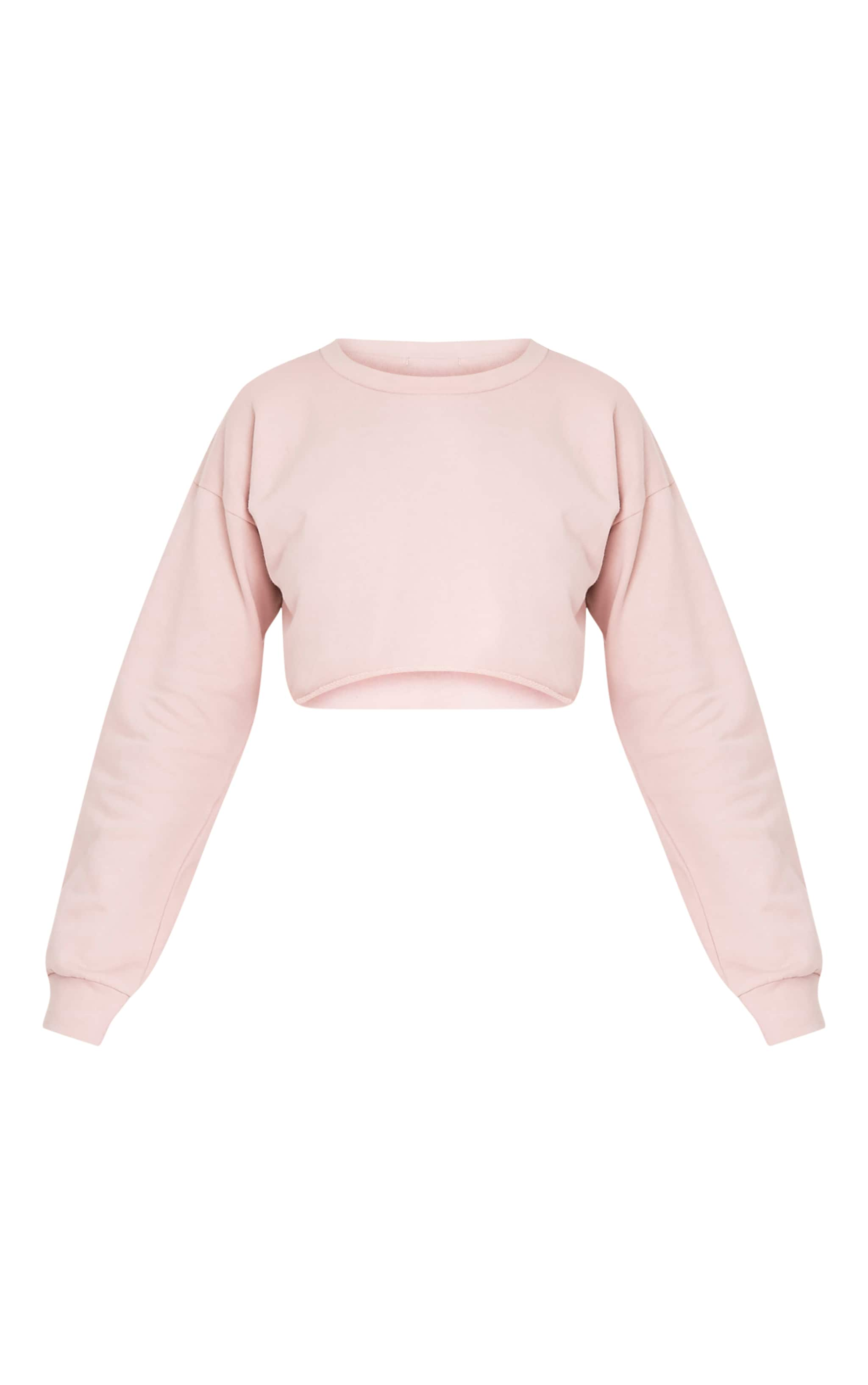 Beau Pink Cut Off Crop Longsleeve Sweater 3