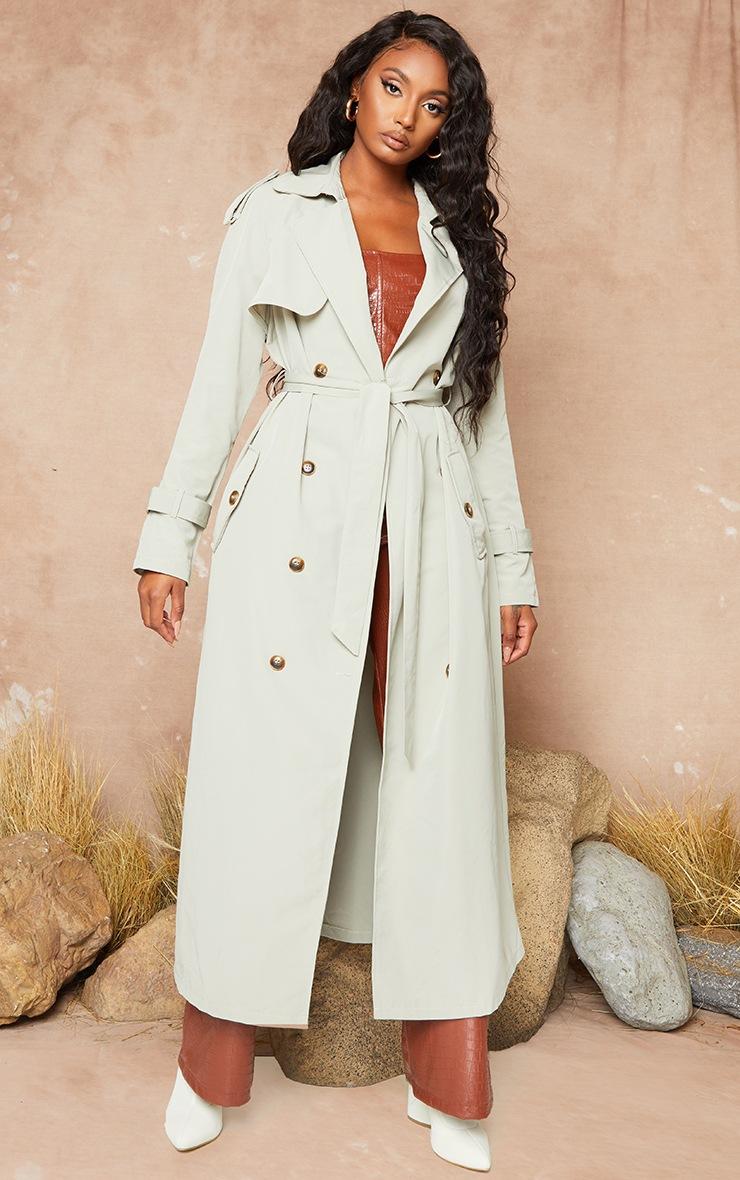 Pale Khaki Trench Coat 4