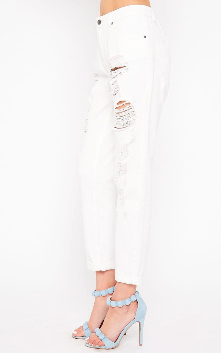 Kada White Extreme Rip Jeans 3
