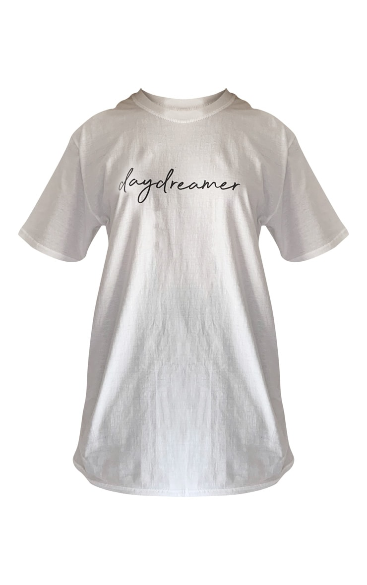 White Day Dreamer Printed Oversized T Shirt 5
