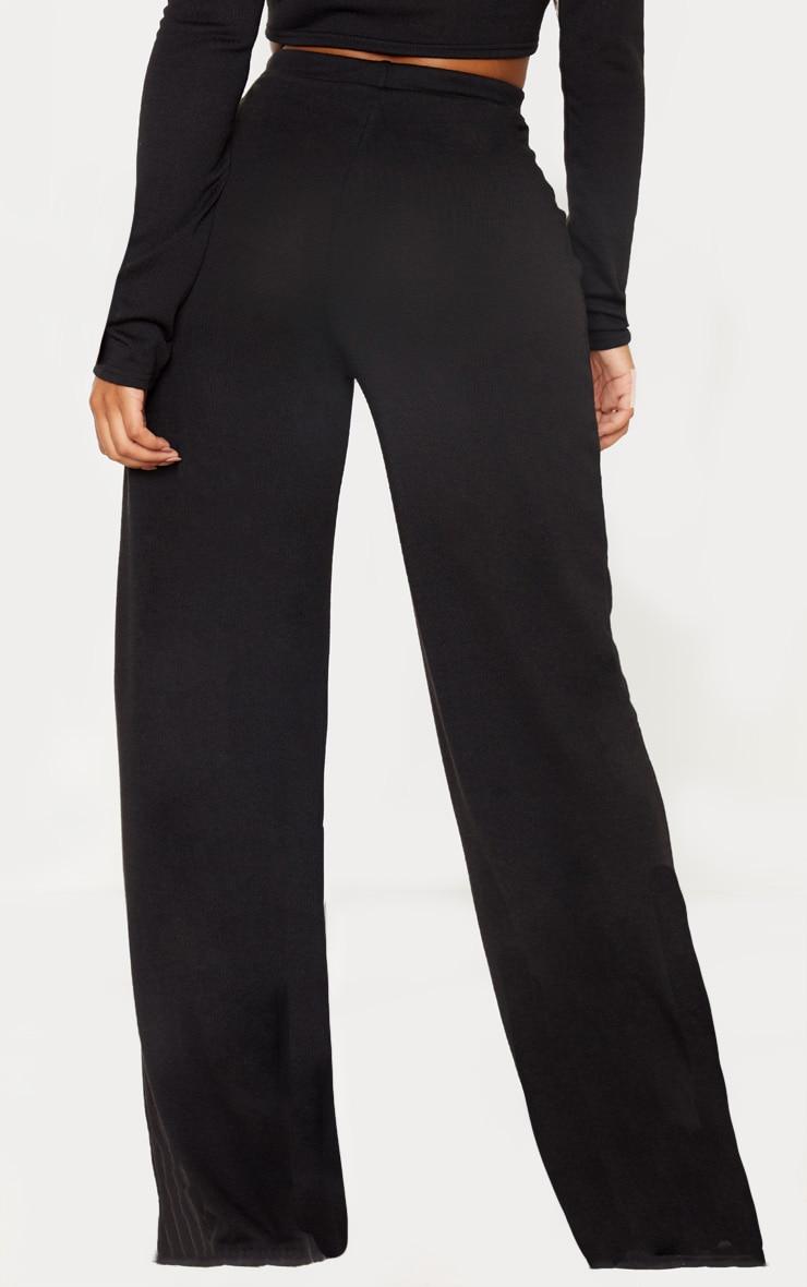 Shape Black Knit Wide Leg Pants 4