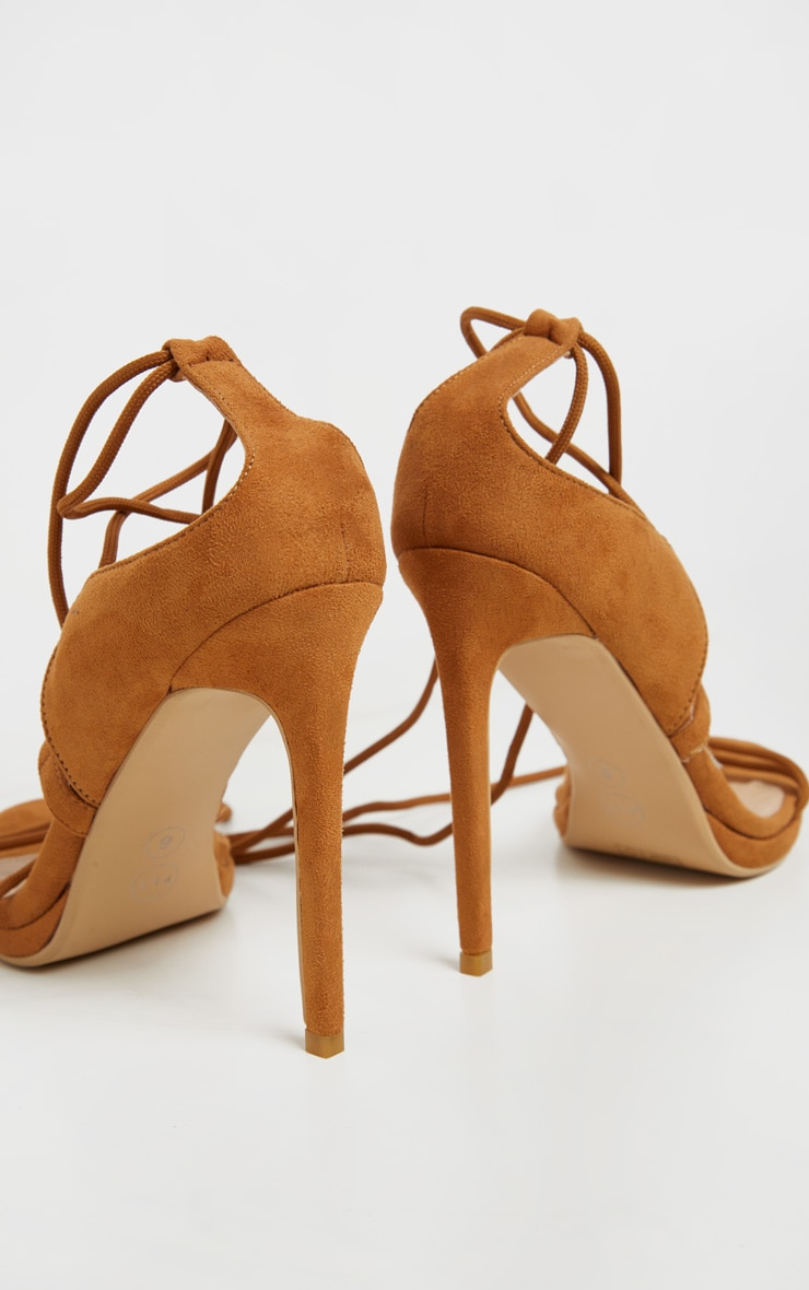 Sandales marron à lacets & talons style randonnée 3