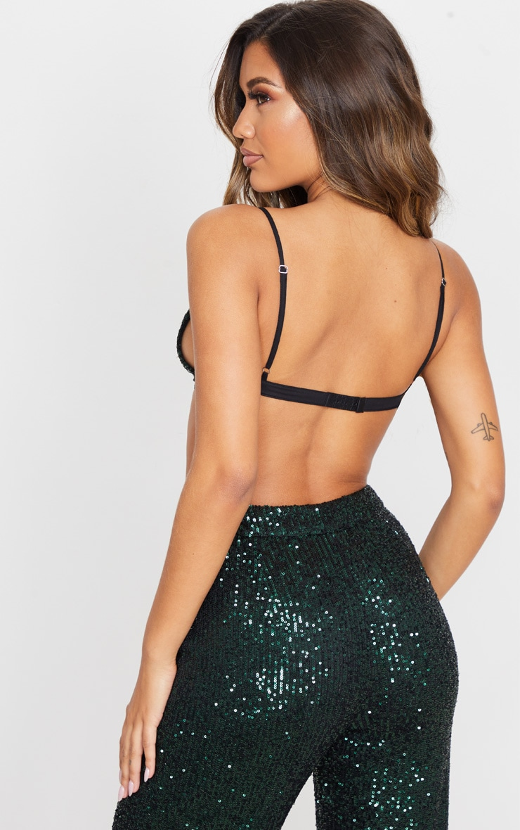 Emerald Green Sequin Bralet 2