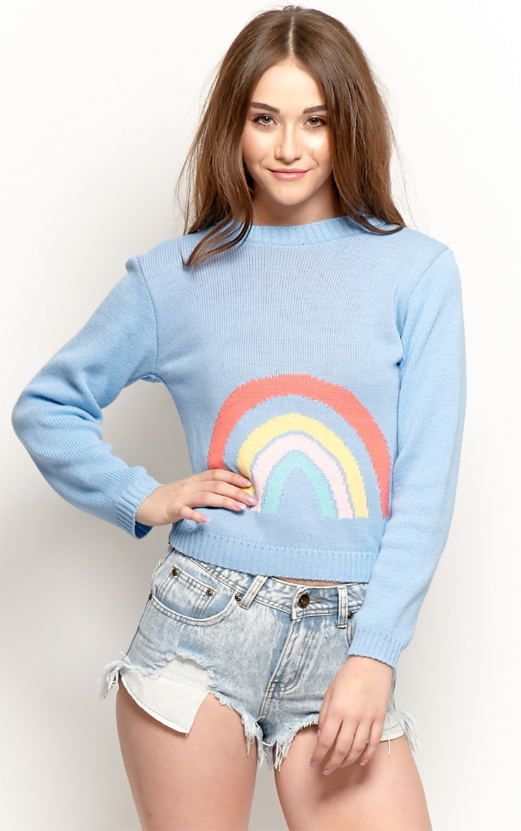 Melanie Blue Rainbow Jumper  1