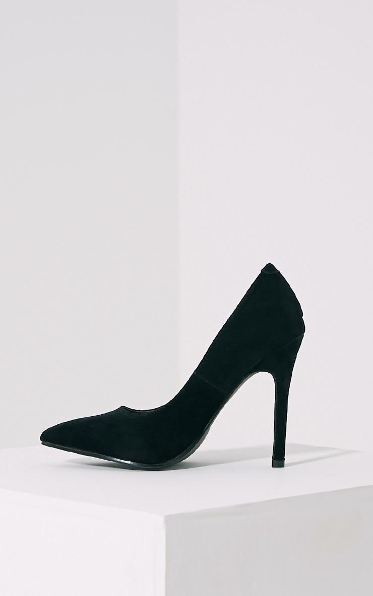 Magna Black Suede Court Shoes 4