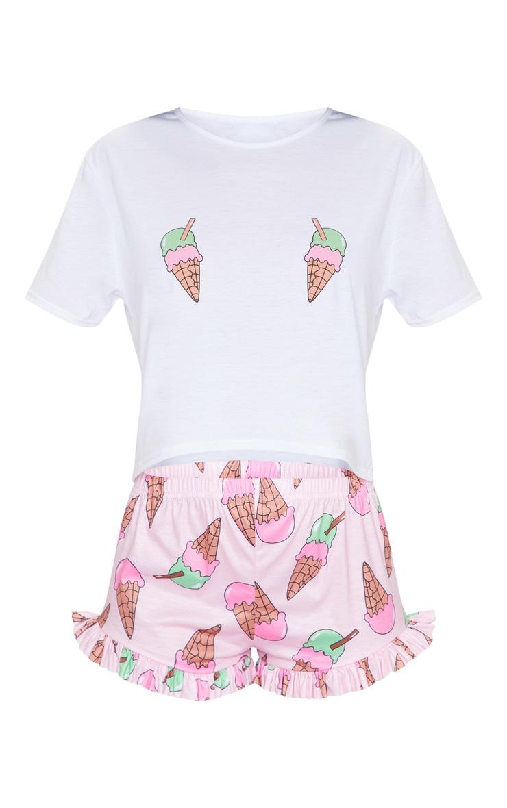 Pink Ice Cream Short PJ Set 5