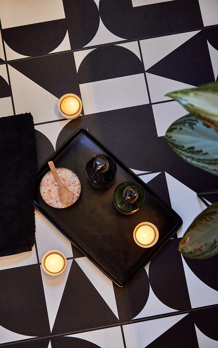 Matte Black Decorative Tray Large 1
