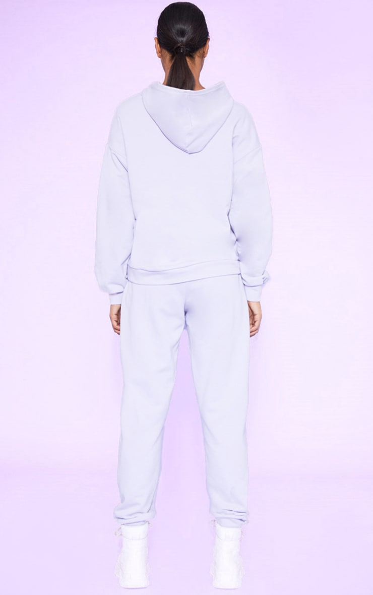 RECYCLED Pale Violet Oversized Hoodie 5