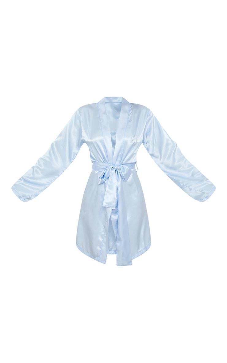 Blue Disney Princess Cinderella Embroidered Satin Robe 5
