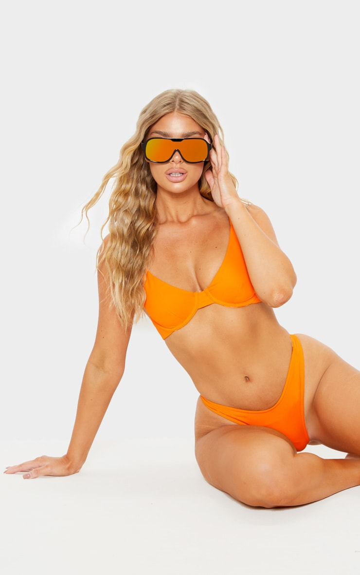 Orange Mix & Match Underwired Bikini Top 4