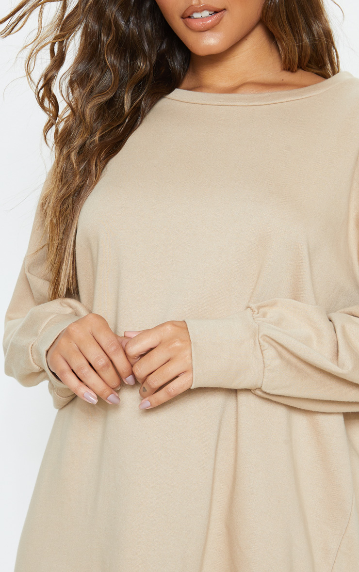 Stone Oversized Jumper Dress 5