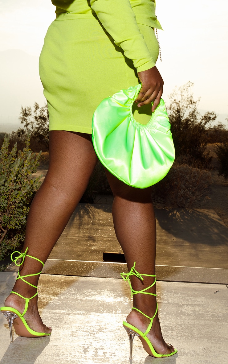 Plus Lime Knitted Mini Skirt 3