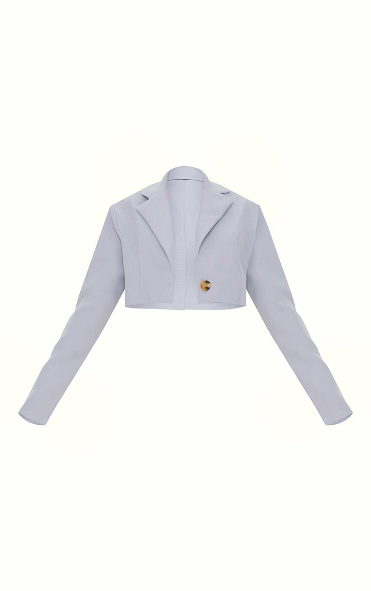 Grey Cropped Blazer 5