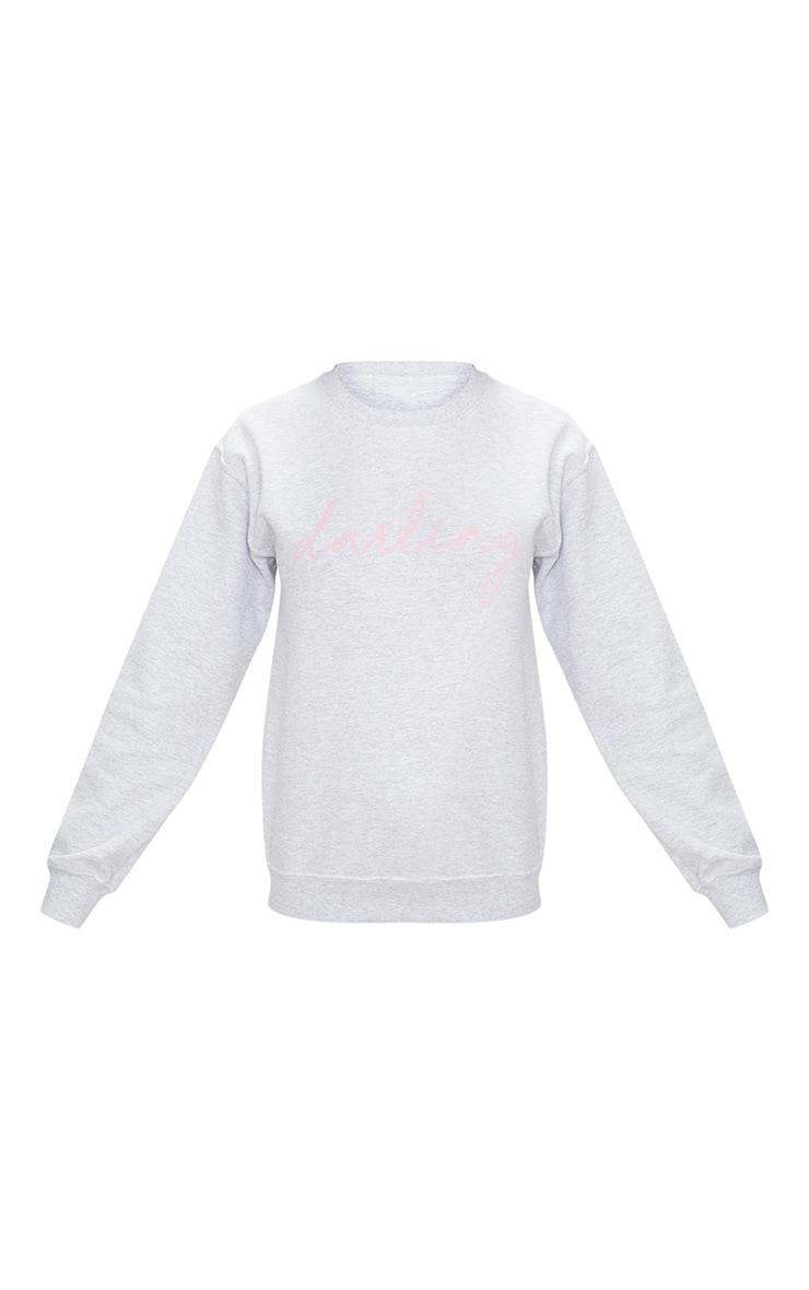 Ash Grey Darling Oversized Sweater  3