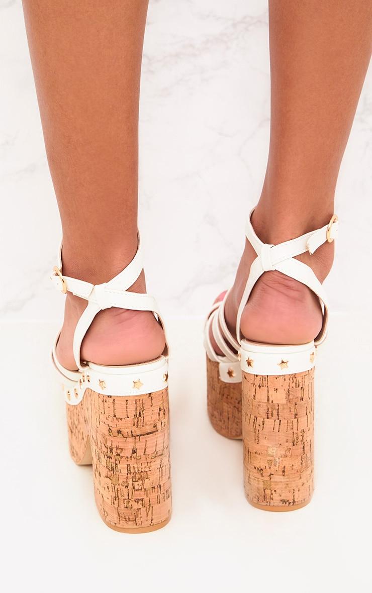 White Chunky Platform Sandals  4