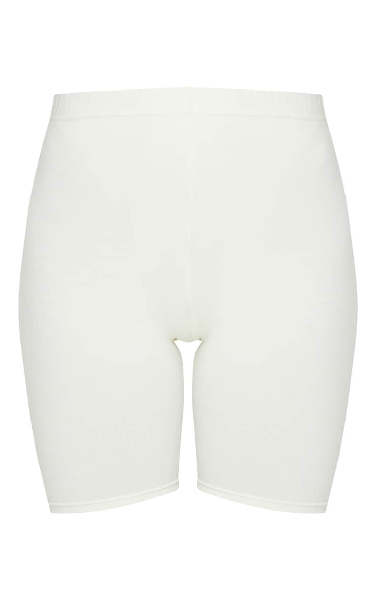 Cream Cotton Stretch Bike Shorts 6