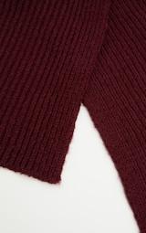 Echarpe tricoté côtelée bordeaux. Accessoires   PrettyLittleThing FR 1b98e07de33
