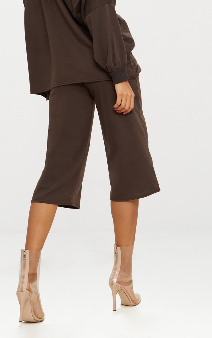 Brown Oversized Sweater Shorts  3
