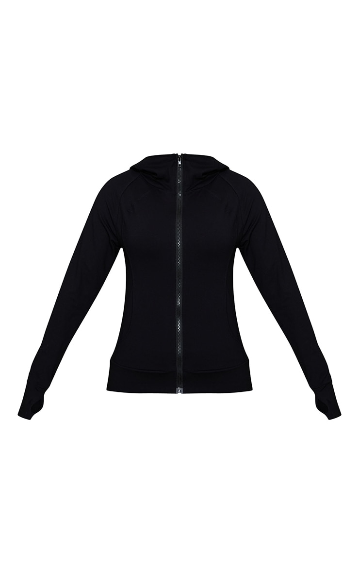 Black Brushed Luxe Zip Up Sports Jacket 5