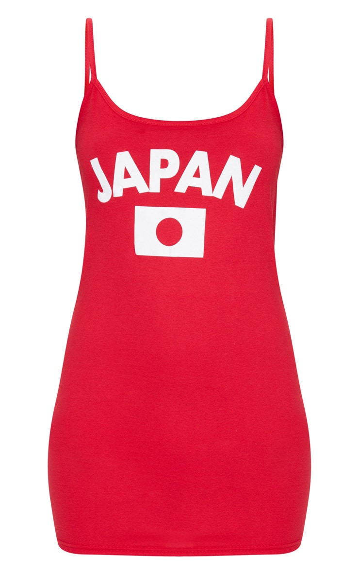 Red Japan Football Strappy Bodycon Dress 3