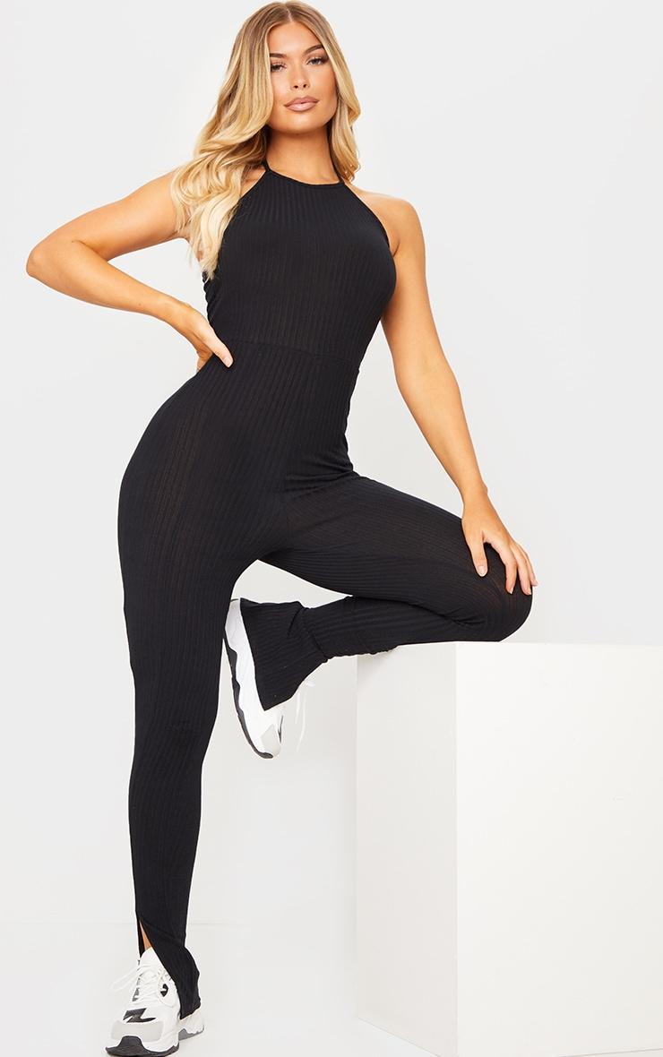 Black Halterneck Jumpsuit 1