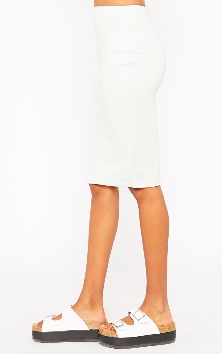 Winnie Mint Scuba Midi Skirt 3