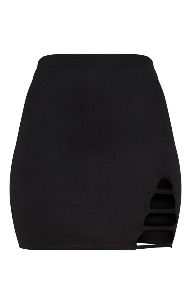 Black Ladder Detail Mini Skirt 3