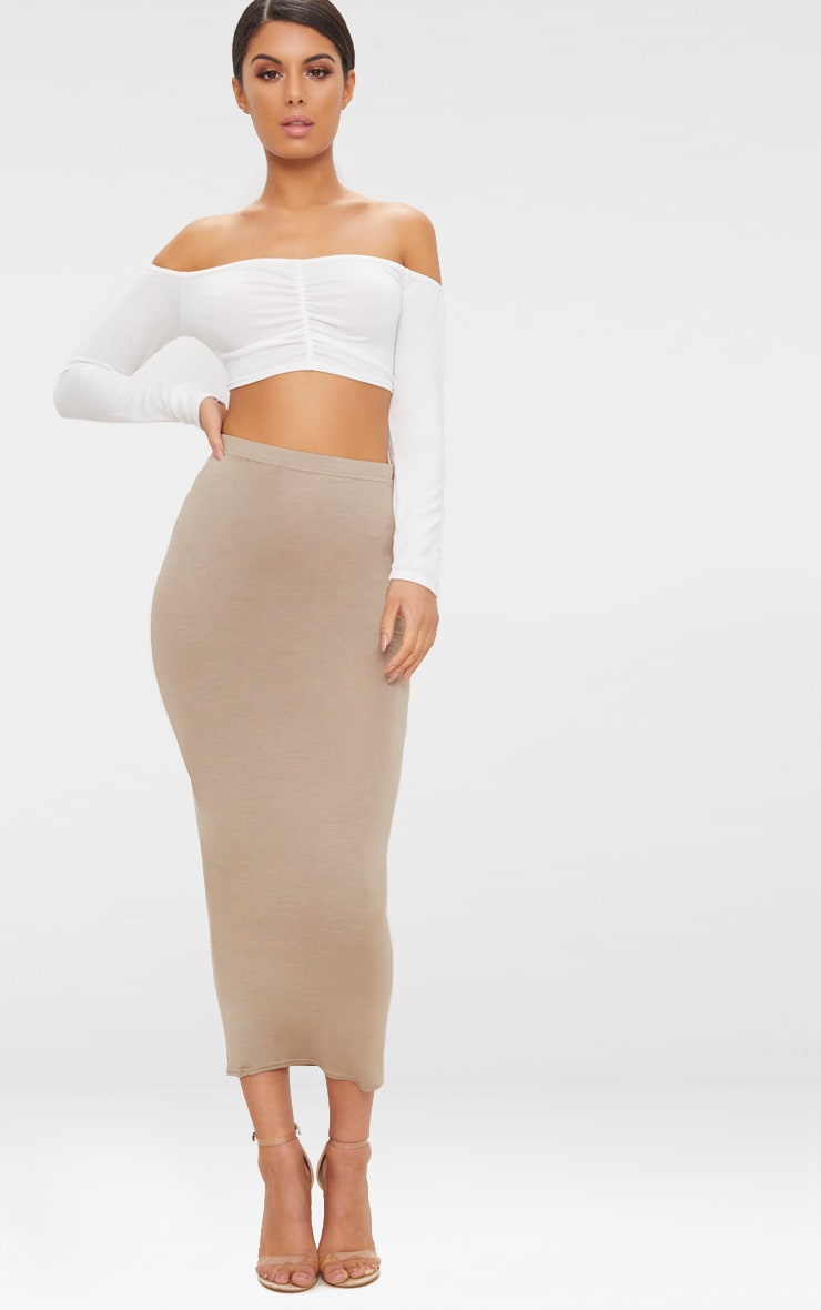 Cream Ruched Front Knit Top 4