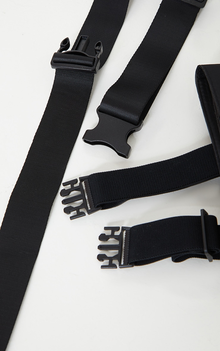 Black Diamante Leg Belt Bag 3