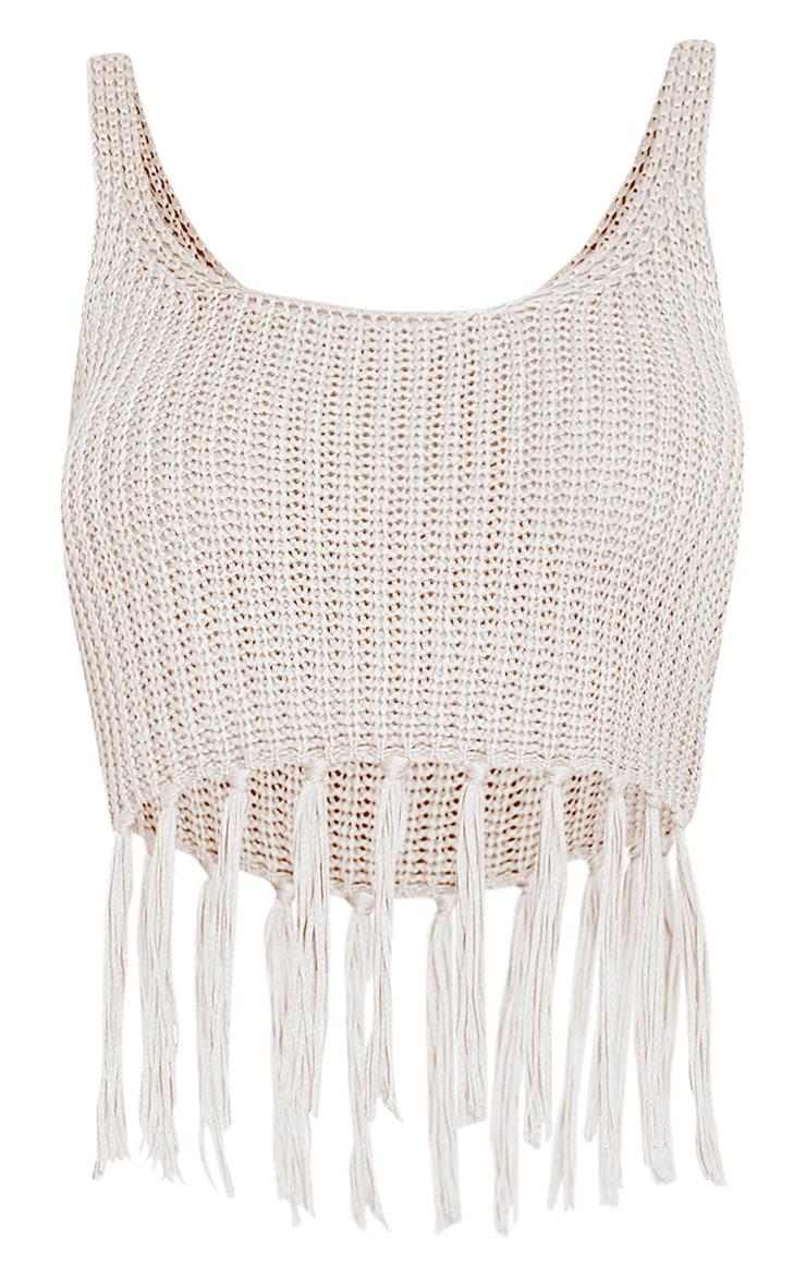 Marisol White Tassel Crochet Bralet 3