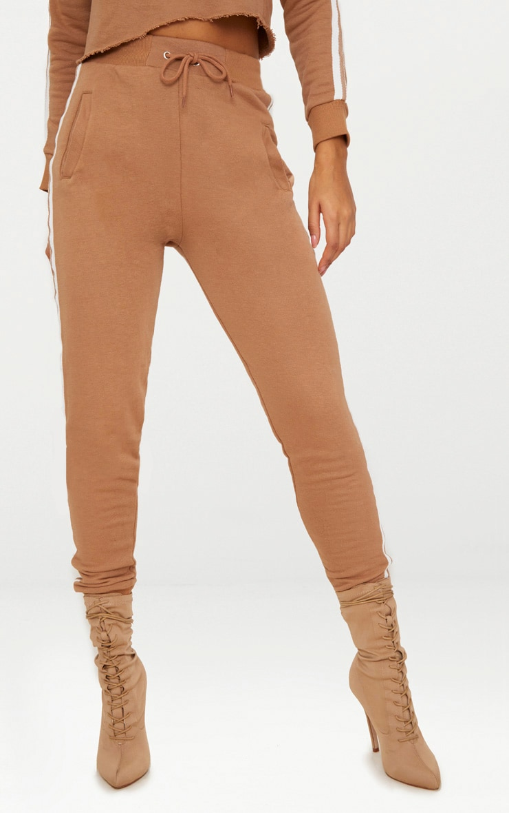 Taupe Side Stripe Joggers 2