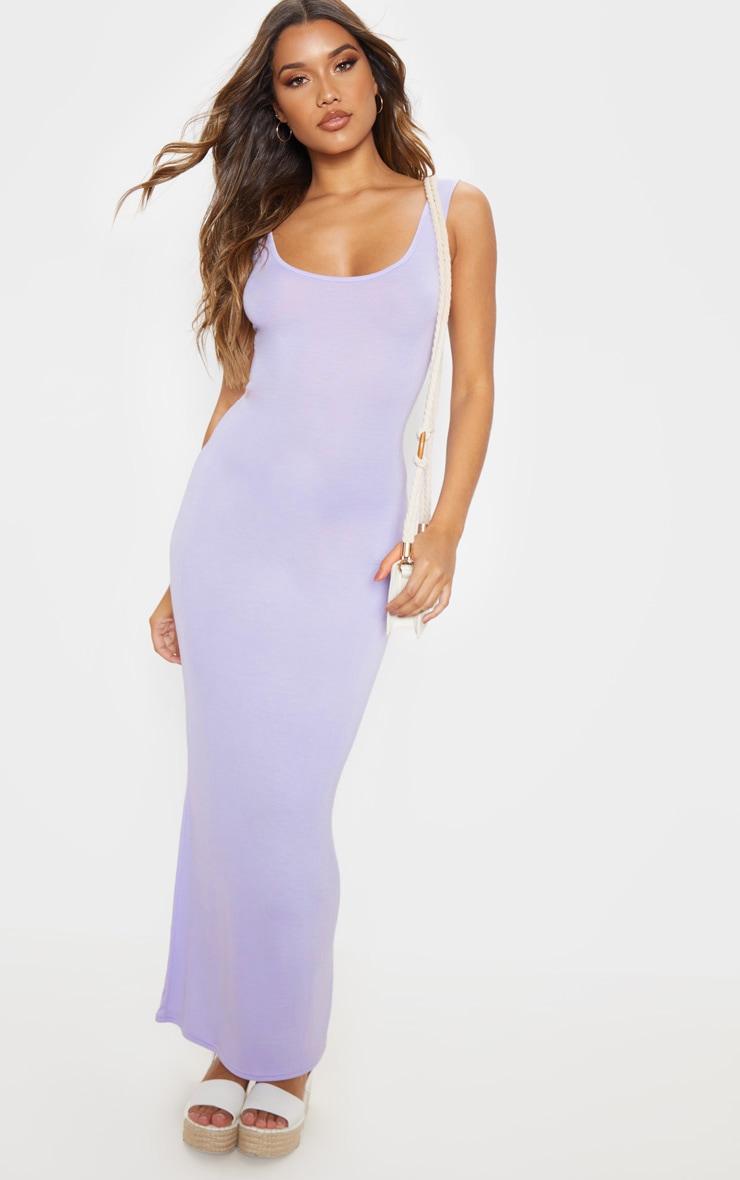 Lilac Basic Maxi Dress 1