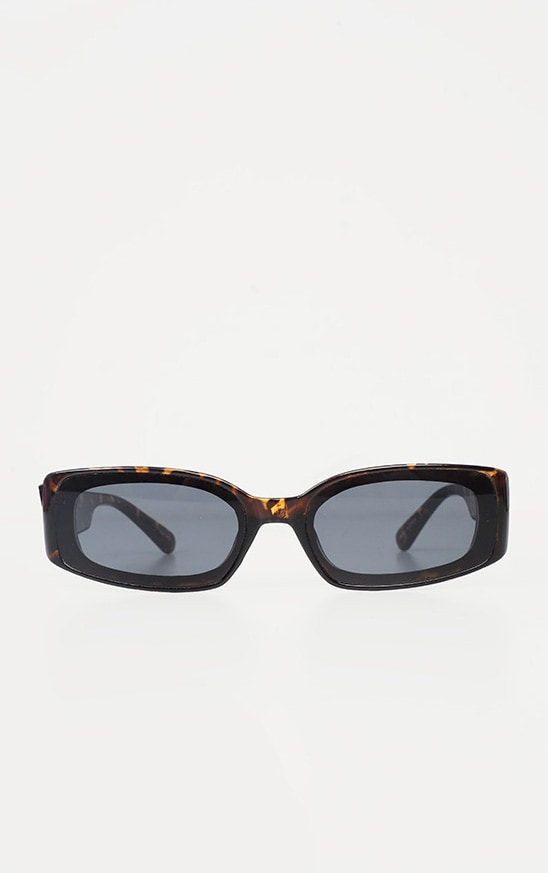 Brown Tortoiseshell Narrow Frame Sunglasses 2