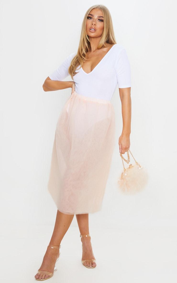 Nude Tulle Skirt 1