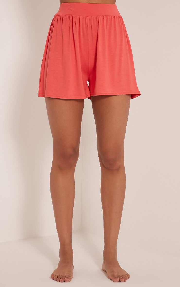 Lucilla Coral Jersey Floaty Shorts 2