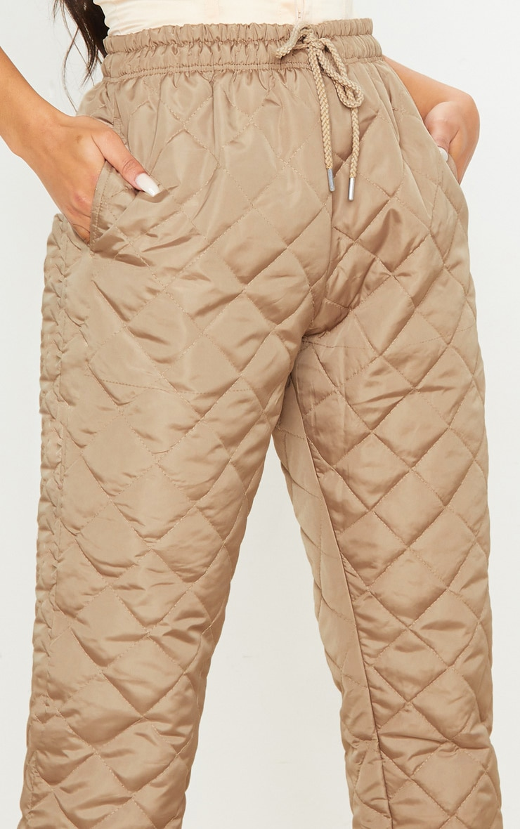 Stone Quilted Jogger  5