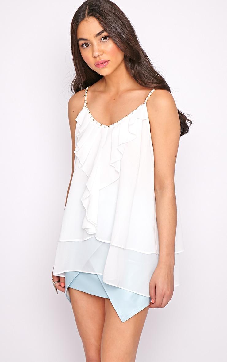 Jessy White Chain Swing Vest 5