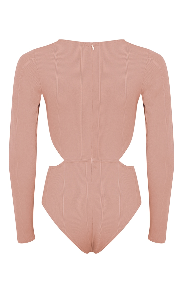 Alessia Nude Bandage Cut Out Bodysuit 4