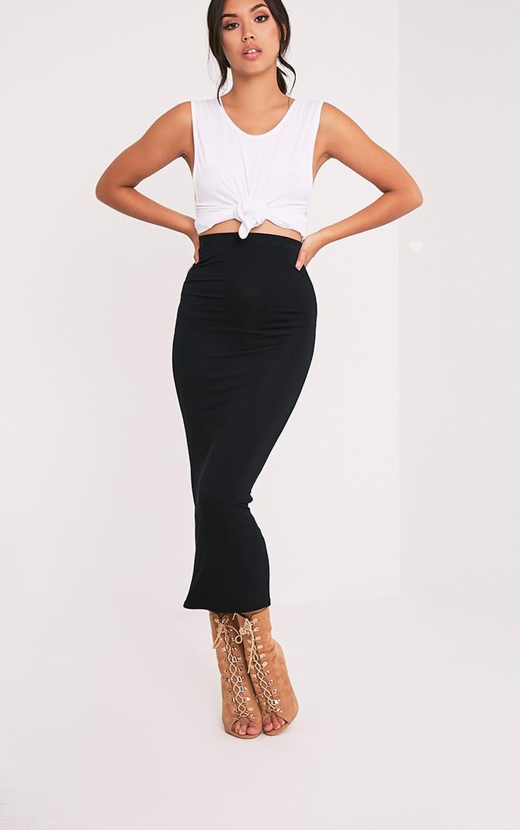 Basic jupe midaxi noire 1