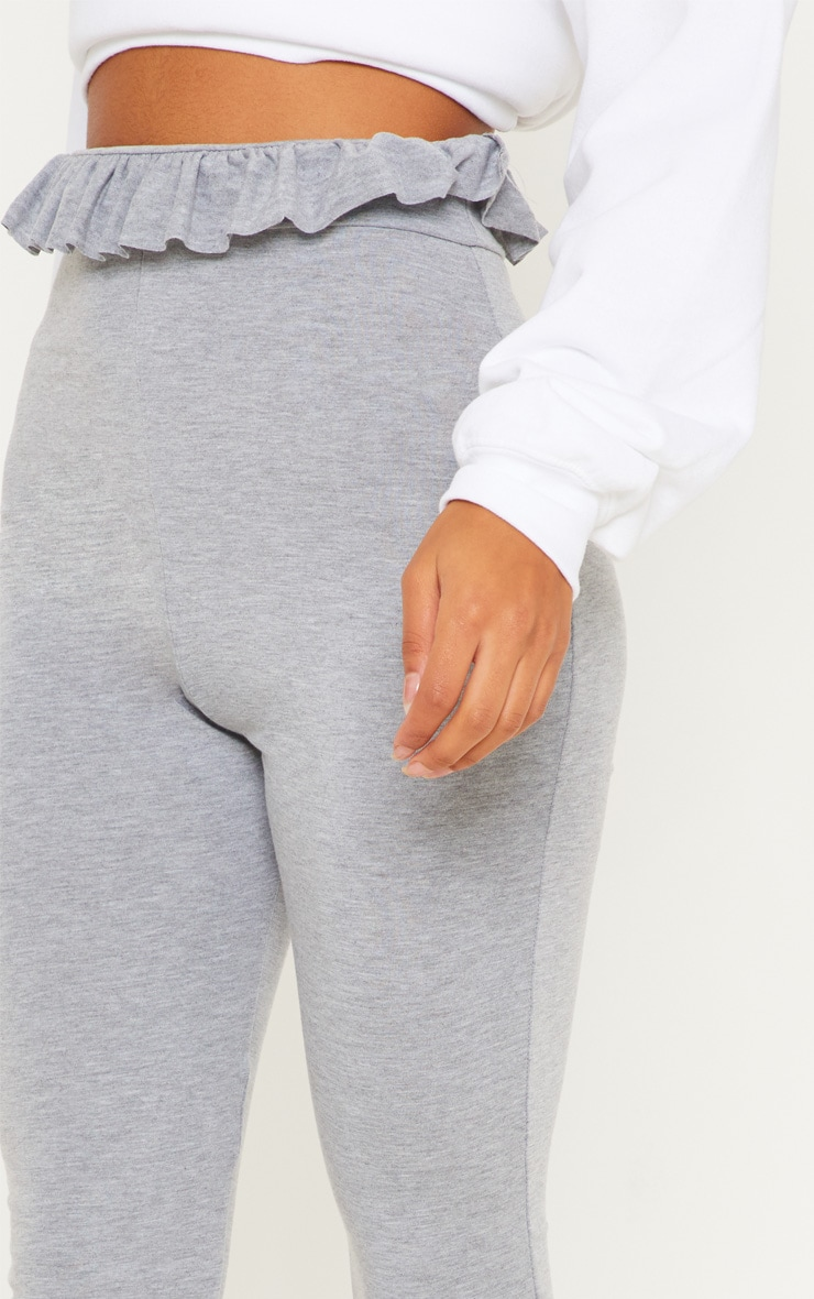 Grey Marl Paperbag Leggings 5
